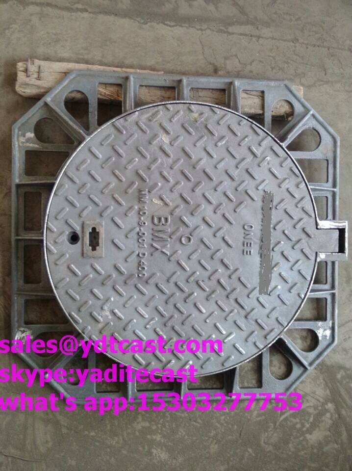 ductile iron manhole cover d400 600*600 double seal