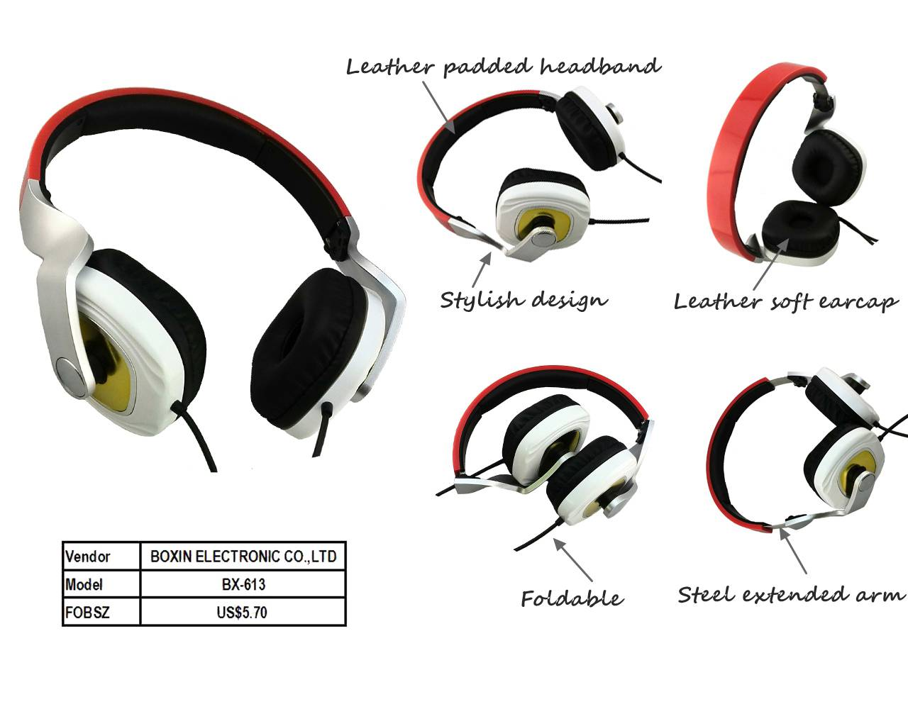 Stereo headphone new foldable Media Microphone