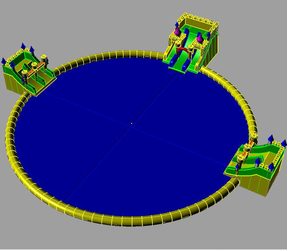 Giant Mobile Inflatable Water Swimming Pool Park
