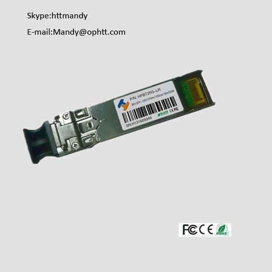 compatible HP 10Base SFP+ BIDI module 10g sfp 40km simplex single mode 1270nm/1330nm Optical Transce