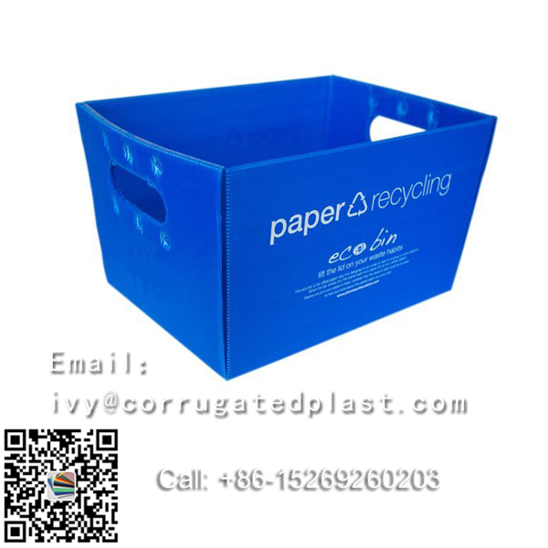 Eco-friendly PP Plastic Handles Corrugated Boxes recycled & durable printing available