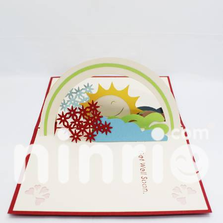 Get well soon Pop Up Card Handmade Greeting Card