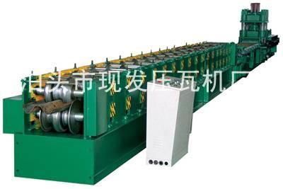 fast guardrail forming machine