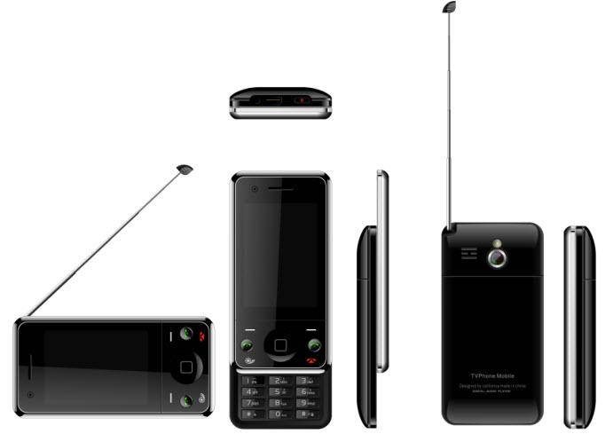 GF5-Dual SIM Dual Standby Quad-Band Analog TV Slider Mobile Phone With Touch Screen/FM/Bluetooth/MP3