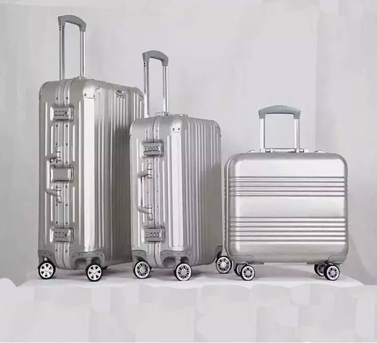 aluminum luggage travel case carry-on suitcase