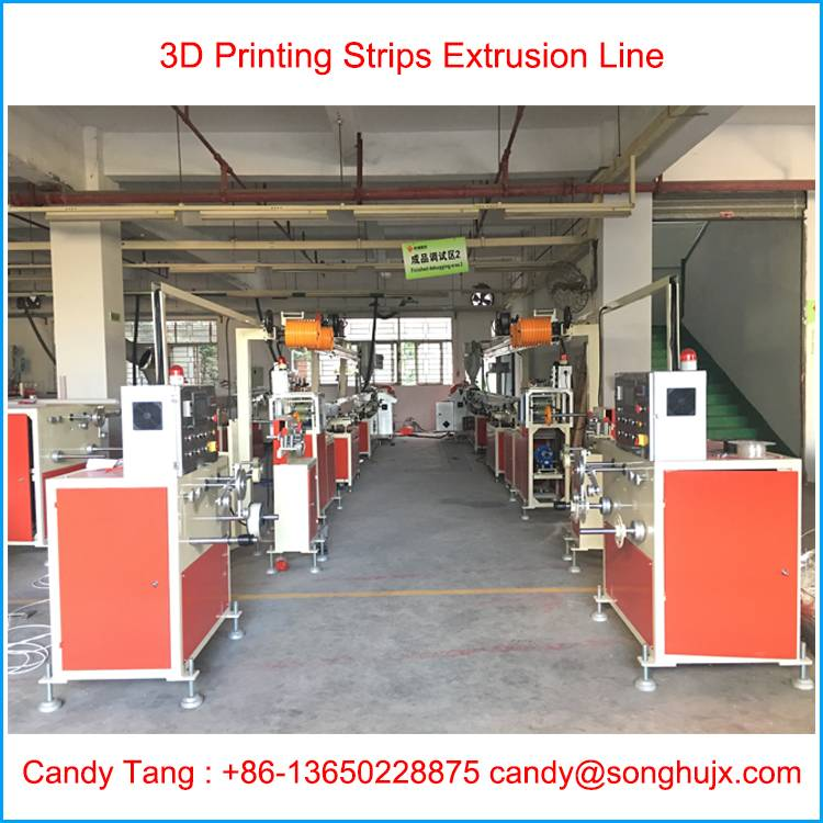 3D Printer ABS PLA Nylon HIPS Filament Extrusion Line 1.75mm 3.00mm 15 - 20 Kg per hour
