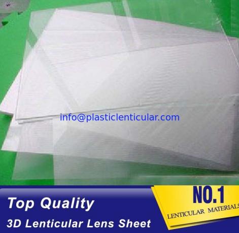 Clear Plastic Lenticular Printing Sheet Price Suppliers 60 LPI 3D Flip Lenticular Plastic Lens Blank