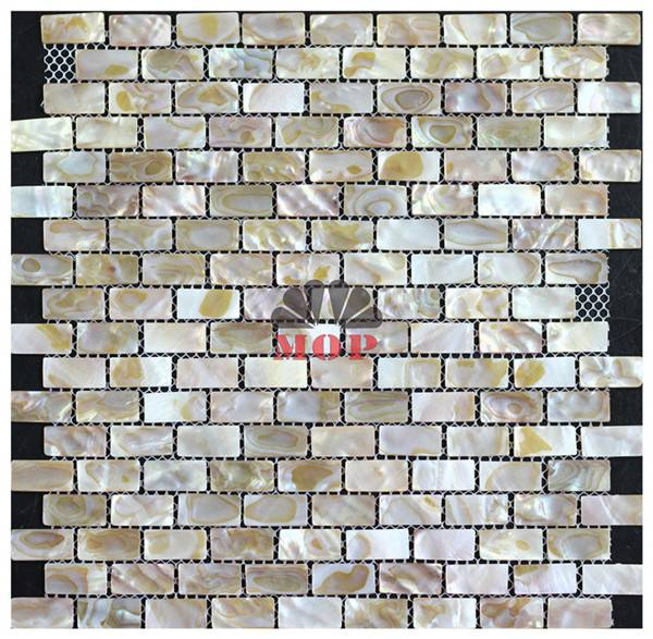 mesh with joints wall mosaic shell slab