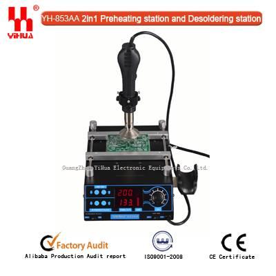 YIHUA 853AA 2in 1function BGA preheating rework station