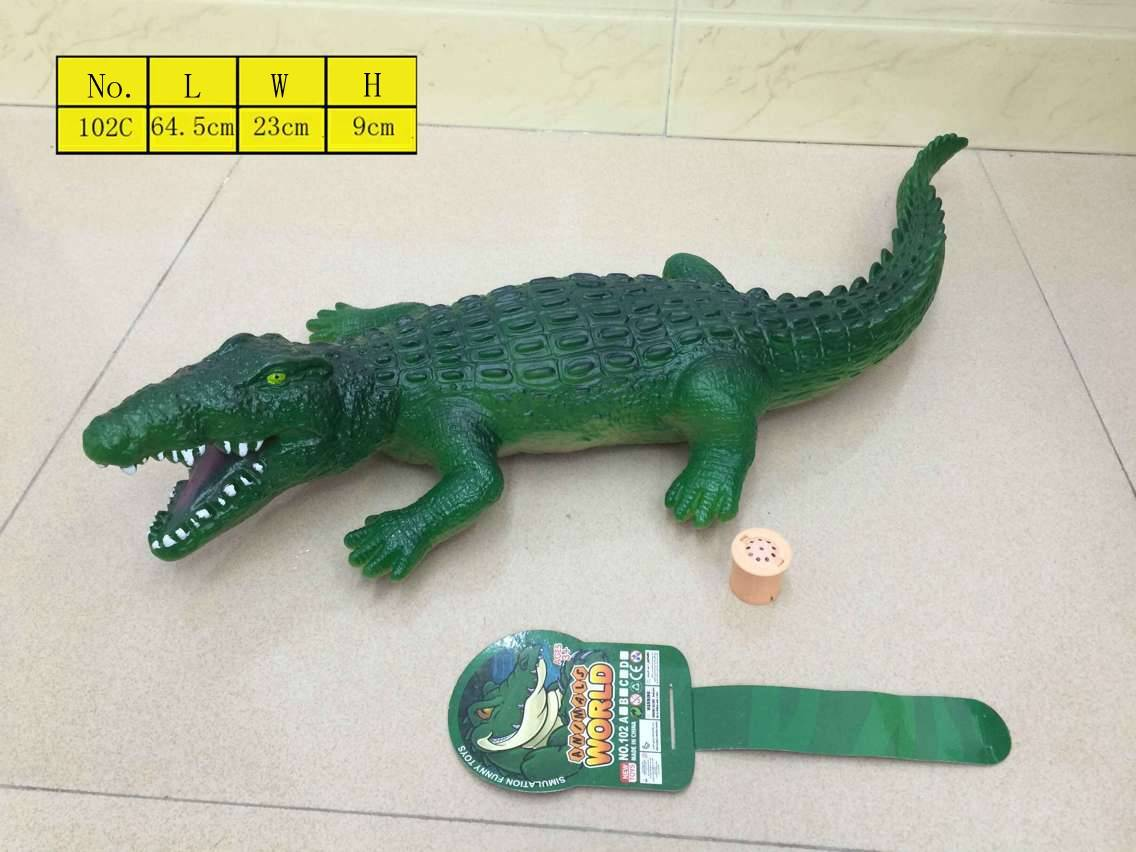 Environmental Crocodile vinyl toys plastic PVC vinly with sound cheap from manufacturer whole