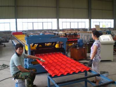 Aluminium Metcoppo Step Tile Roofing Sheet Corrugating Machine