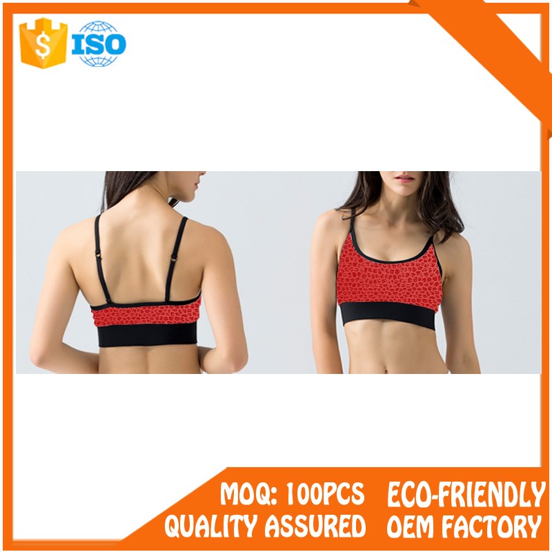 Custom Hot Sexy Women's Running Yoga Sports Bra