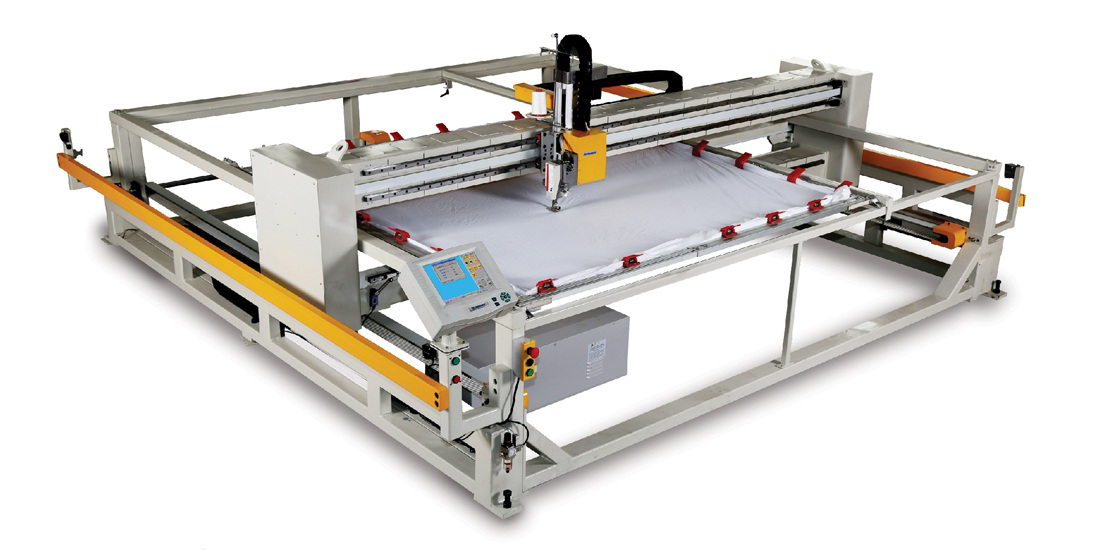 Computerized Quilting in Frame Type Machine ( Lifting Head )