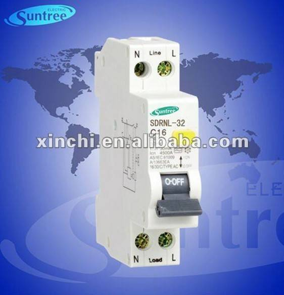 1P+N electron rcbo RCD earth leakage circuit breaker