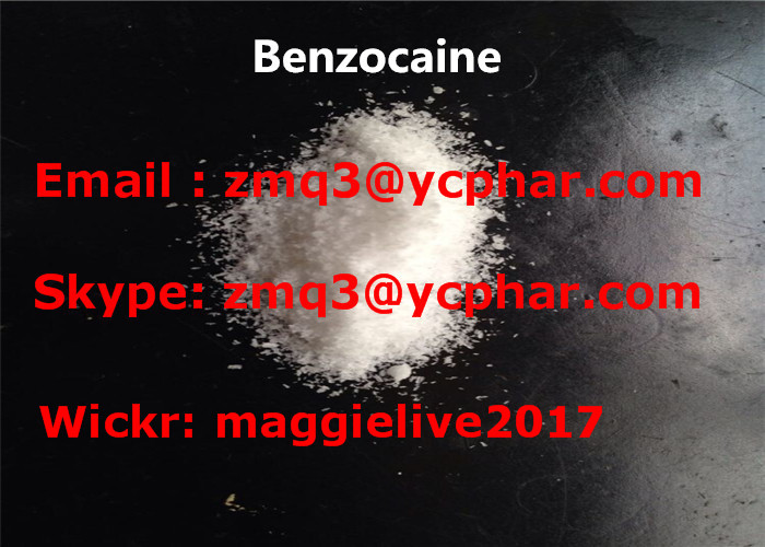 CAS 94-09-7 Anesthetic Drugs , 99% Purity Benzocaine Hydrochloride Powder