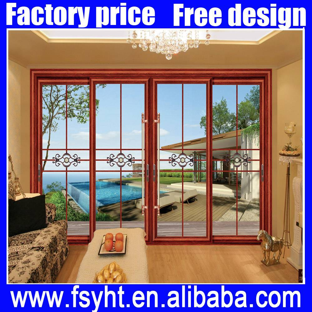 Commercial Aluminum glass sliding door