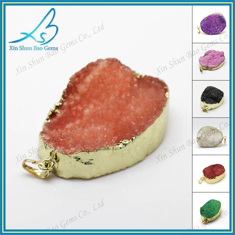 Random shape wholesale drusy jewelry druzy agate pendant