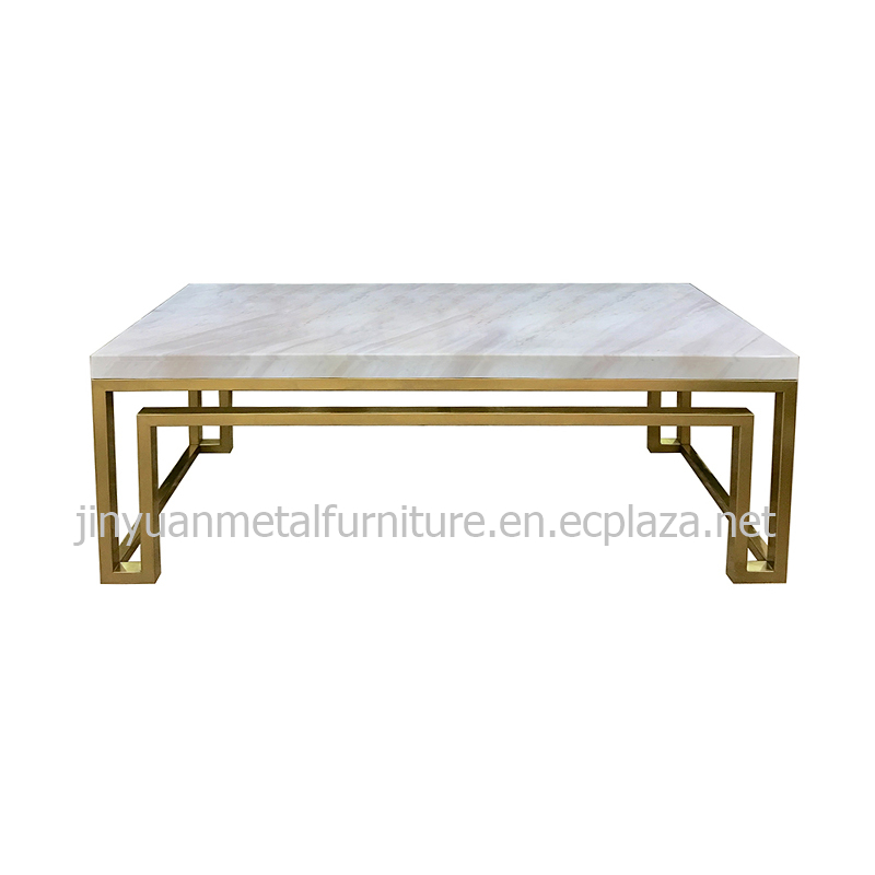 hotel metal tea table factory stainless steel coffee table manufacturer China