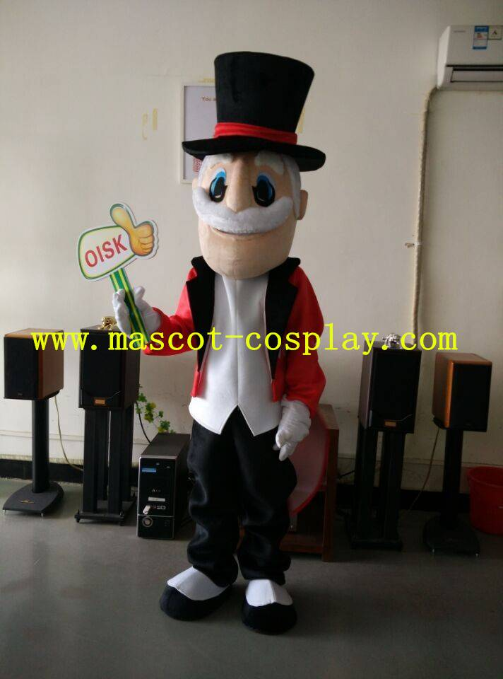 OISK Custom mascot magic Christmas old man mascot adult size