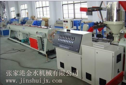 Plastic PE pipe production line