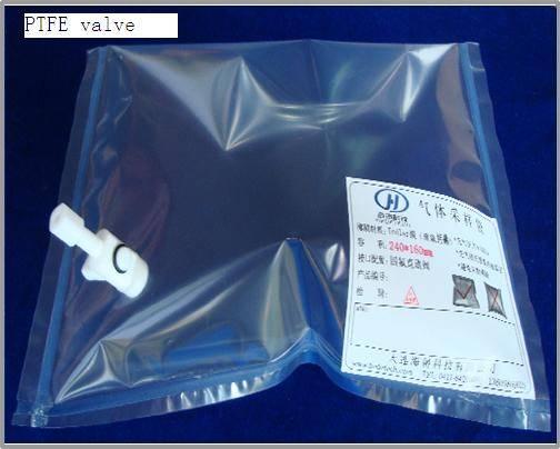 DuPont Tedlar PVF Gas Sampling Bag with PTFE valve