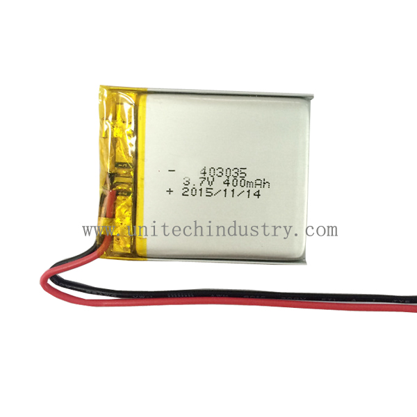 403035 3.7V 400mah small lithium polymer battery