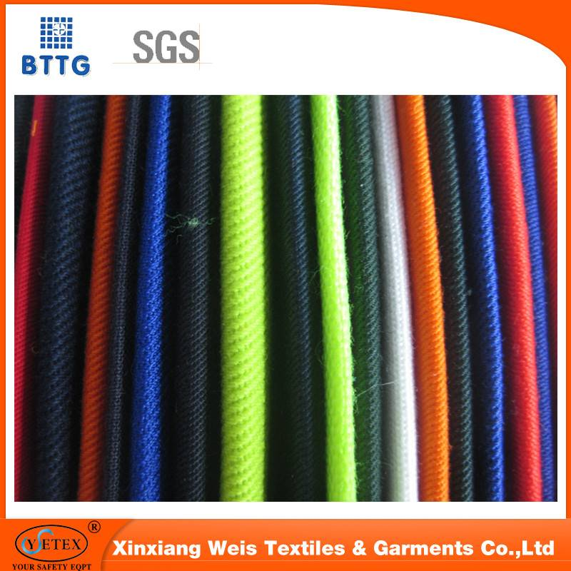 350gsm pure cotton flame resistant satin &aramid fabric