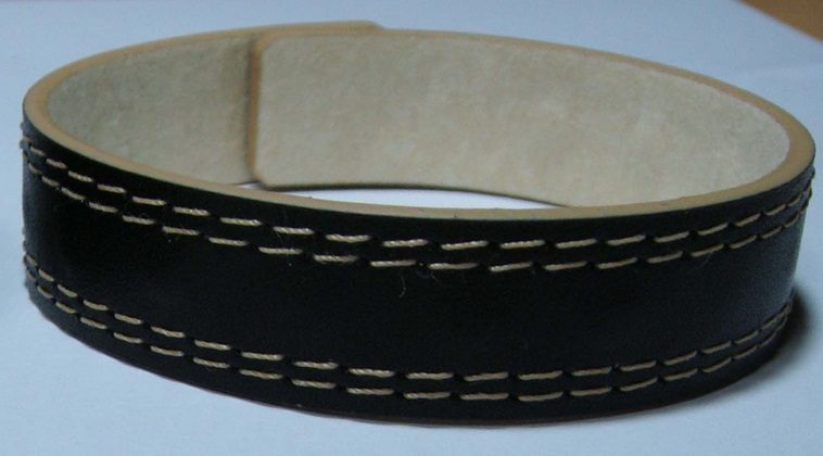 Magnetic leather sports band