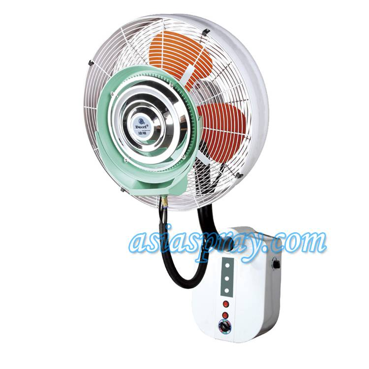Deeri Wall mounted misting industrial fan with rainproof and remote type500