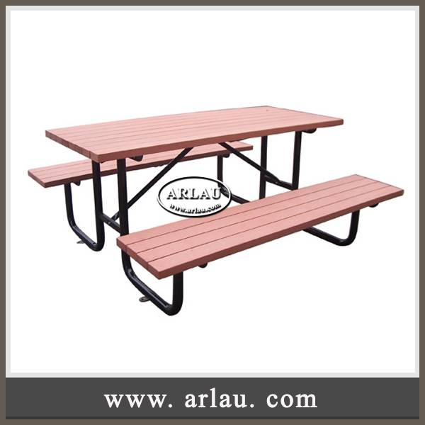 Arlau park furniture, recycle plastic wood table benches, dinning table benches