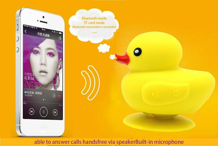 2014 Newest Best Design yellow duck Bluetooth Speaker with Hands Free Function