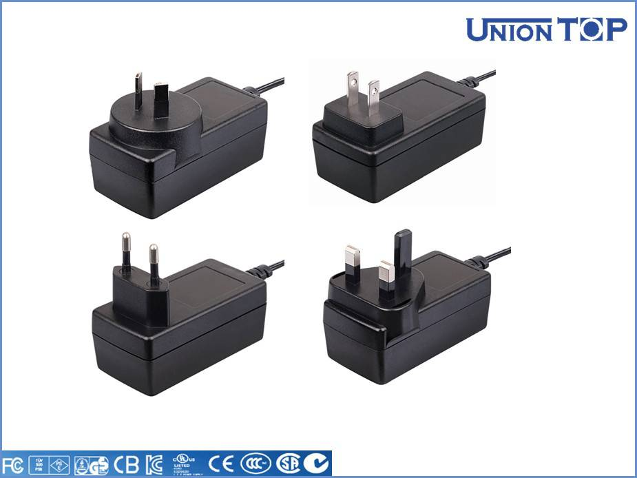 UL listed 12V 1A set top box ac dc adapter power