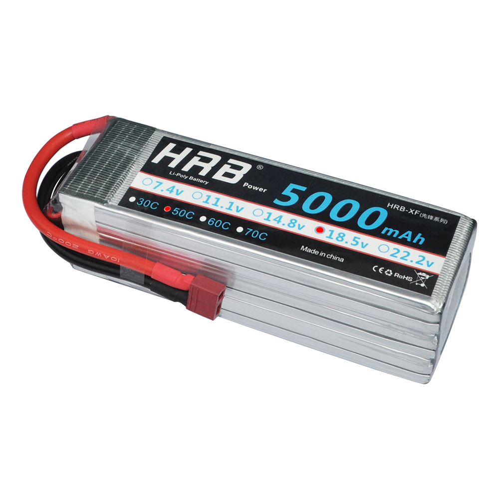 HRB RC Lipo Battery 18.5V 5000mah 50C Max 100C For RC Airplane Helicopter Drone
