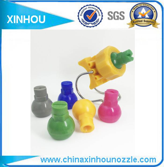 Adjustable ball clip type plastic clamp nozzle