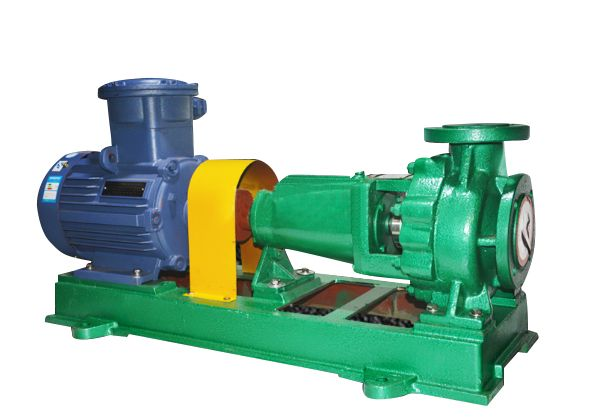 Single-stage single-suction fluoroplastic alloy chemical centrifugal pump