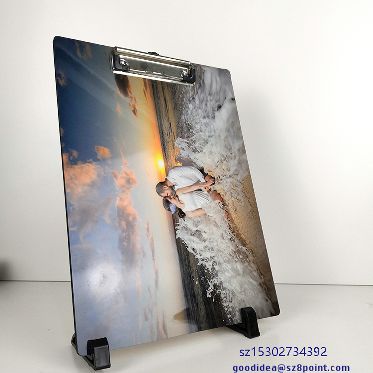 A4 size Sublimation MDF Custom photo printable clipboard wooden wrinting pads