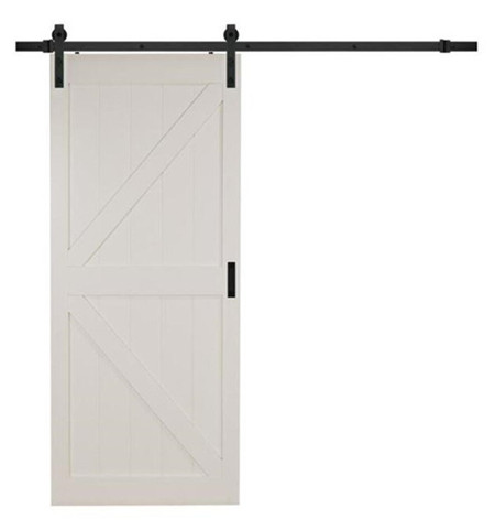 White Barn Door, Modern K Design MDF Barn Door