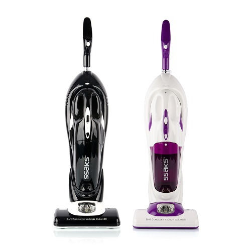 Made In Korea Cordless Vacuum Cleaner 2-in-1 SSAKS LIGHT Floor Care , Powerful Dual Motors,