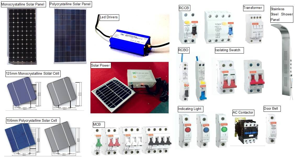 Solar Panel/Led Driver/Solar Power /Isolating Swatch/RCBO/RCCB/MCB/AC