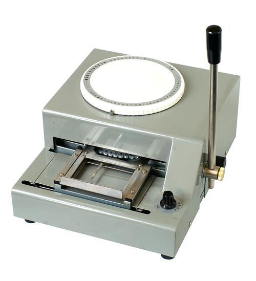 2000 PVC Plastic Card Manual Embosser Embossing Machine