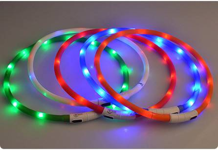 Waterproof USB rechargeable led dog collar