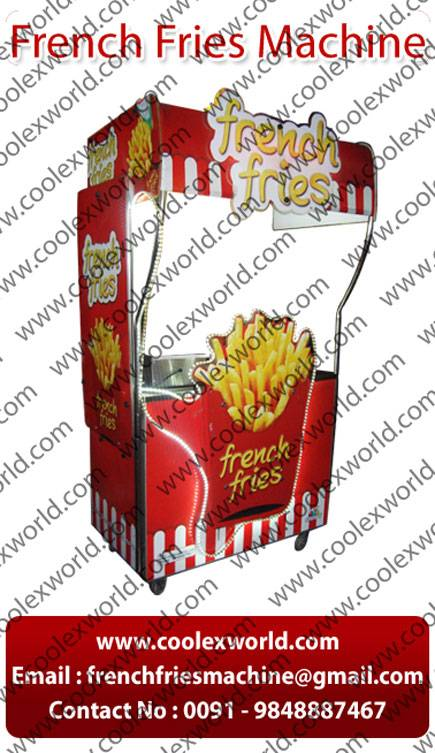 French fries vending counter