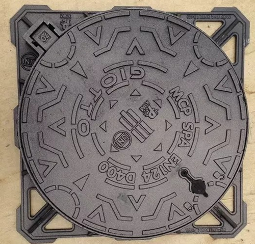 Ductile cast iron square/round fame and round cover