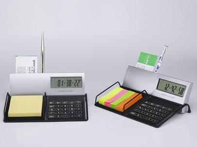 Calendar with pen holder & calculator