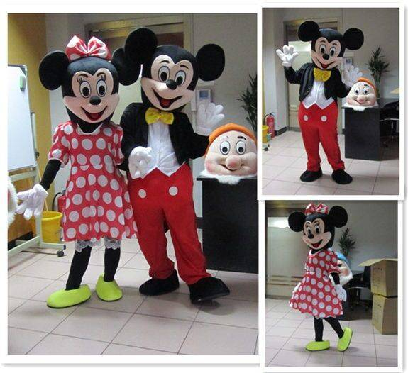 Mickey mascot costume and mini cartoon garment delivery free of charge