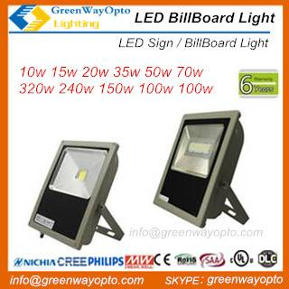 LED Sign Light Billboard Light Ul Cul 10w- 320w