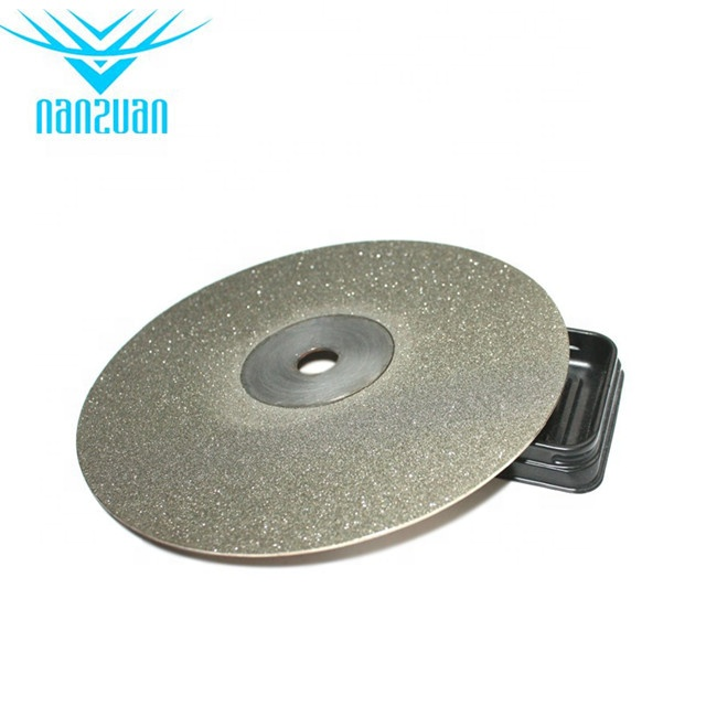 Hot sale 8inch 120grit sharpening diamond electroplated polishing lapidary disc