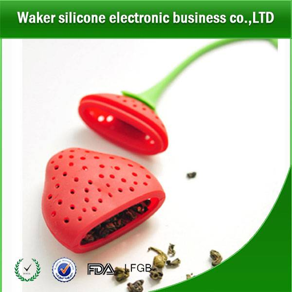 silicone strawberry shaped tae infuser