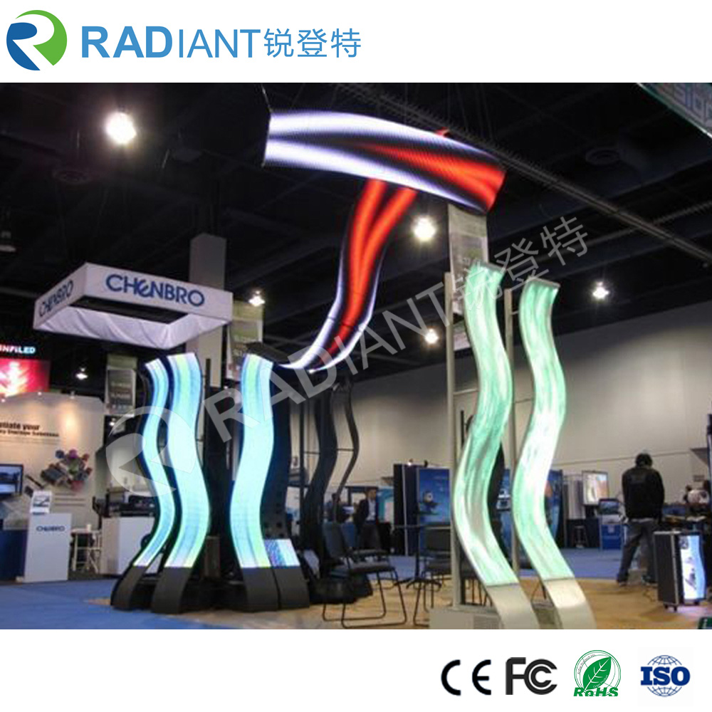 P3 indoor cylinder and soft curtain flexible led display