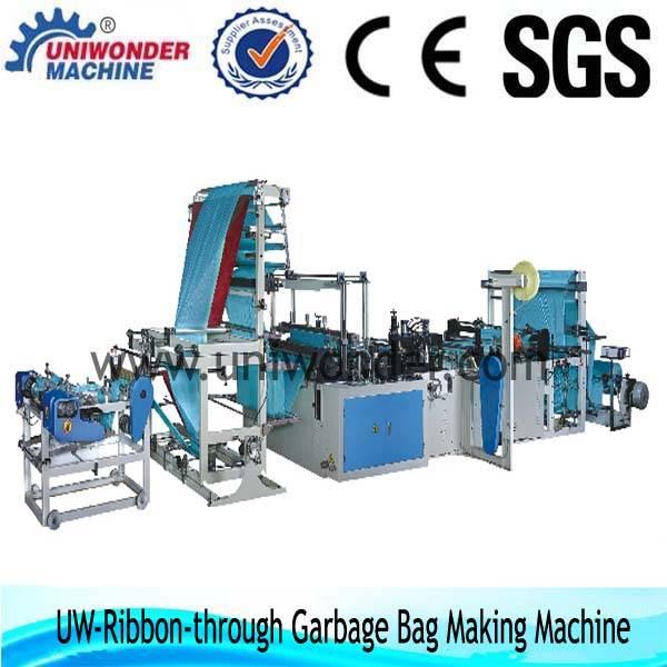 Microcomputer fully Automatic Ribbon-through Garbage Bag-making Machine